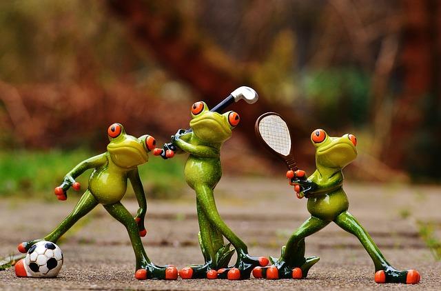 žáby sportovci